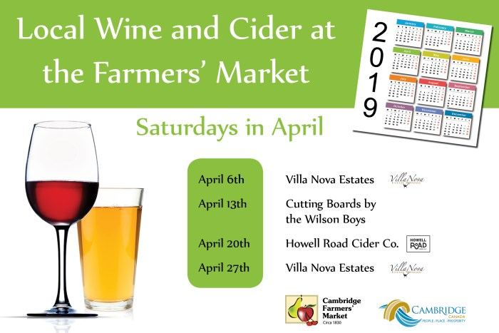 Visiting Wine and Cider - April
