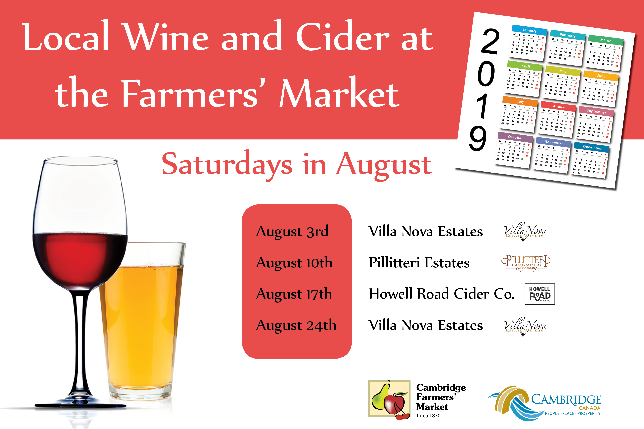 Wine and Cider Vendors August 2019
