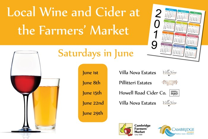 June Wine and Cider Schedule
