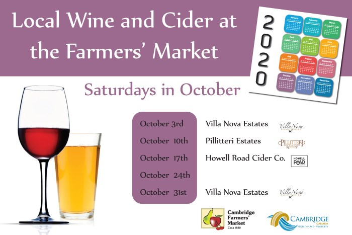Visiting Wine and Cider Vendors October